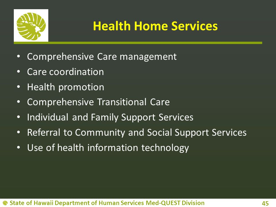 Health Home Services Comprehensive Care management Care coordination