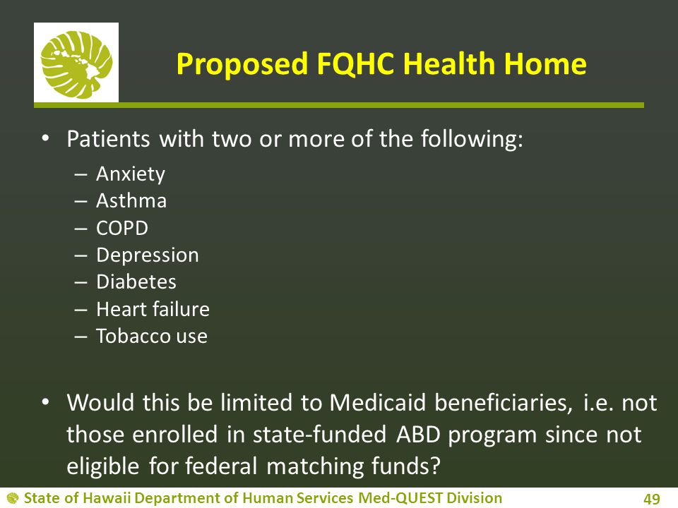 Proposed FQHC Health Home