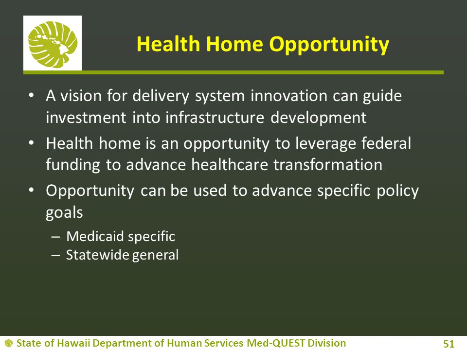 Health Home Opportunity