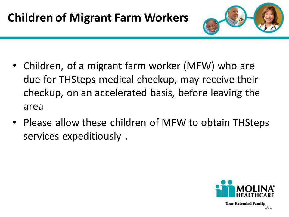 Children of Migrant Farm Workers