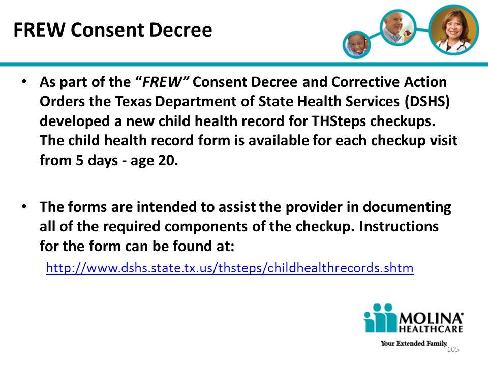FREW Consent Decree Headline Goes Here.