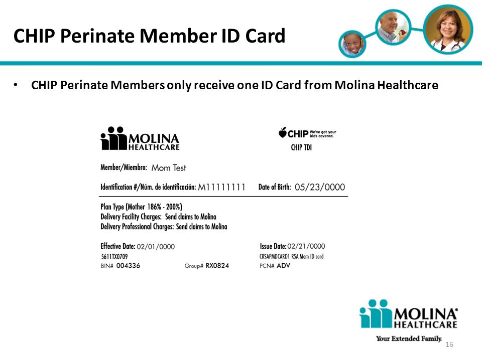 CHIP Perinate Member ID Card