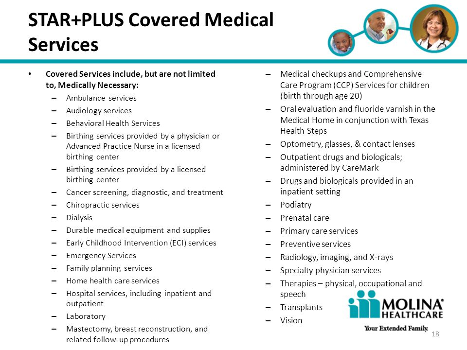 STAR+PLUS Covered Medical Services