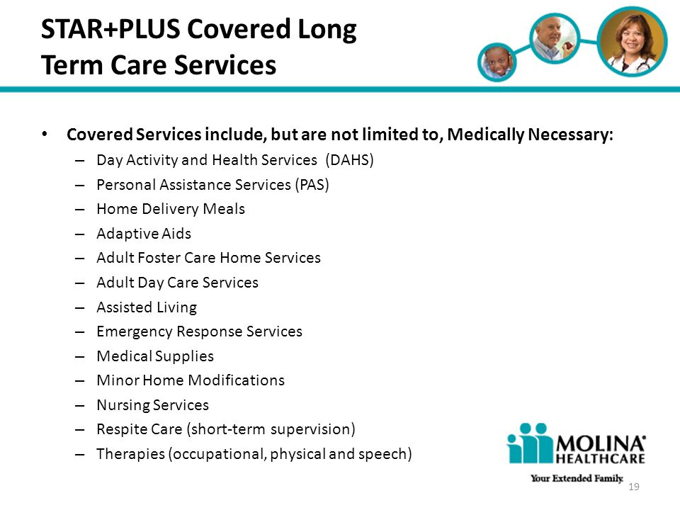 STAR+PLUS Covered Long Term Care Services