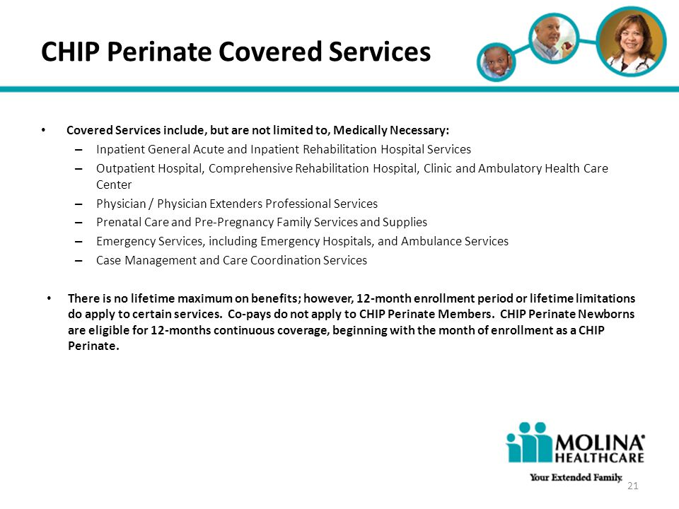 CHIP Perinate Covered Services