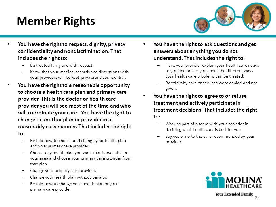 Member Rights Headline Goes Here • Item 1 • Item 2 • Item 3