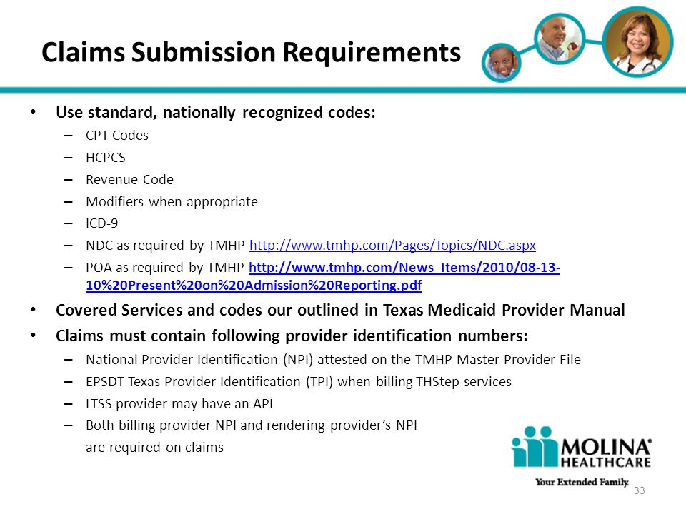 Claims Submission Requirements
