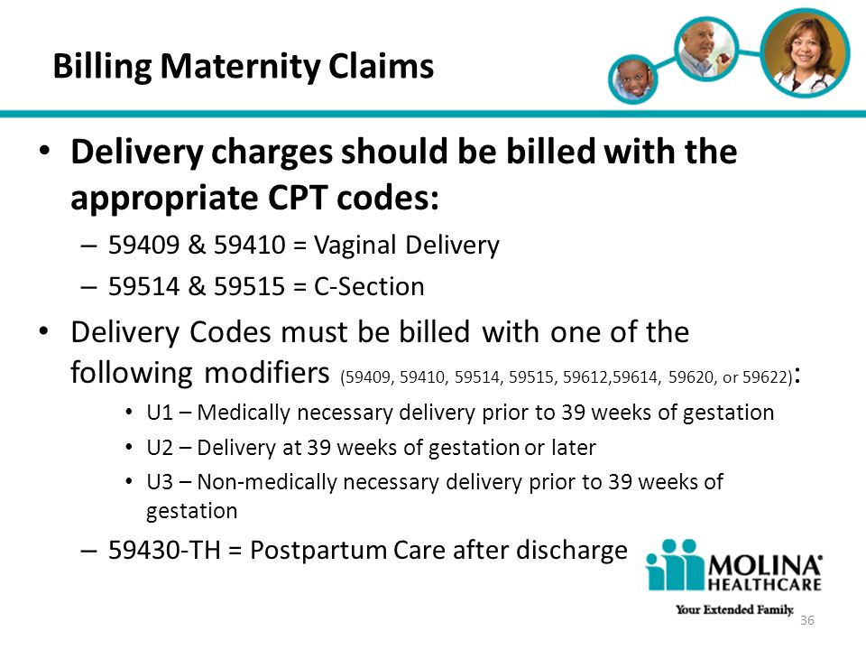 Billing Maternity Claims