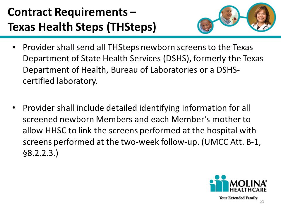 Contract Requirements – Texas Health Steps (THSteps)
