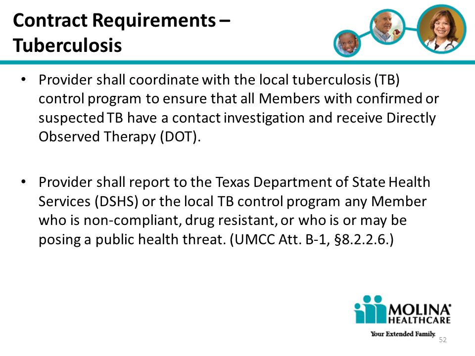 Contract Requirements – Tuberculosis