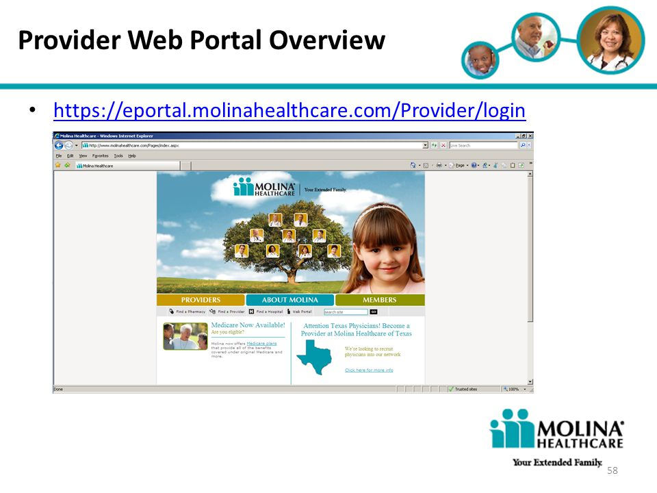 Provider Web Portal Overview