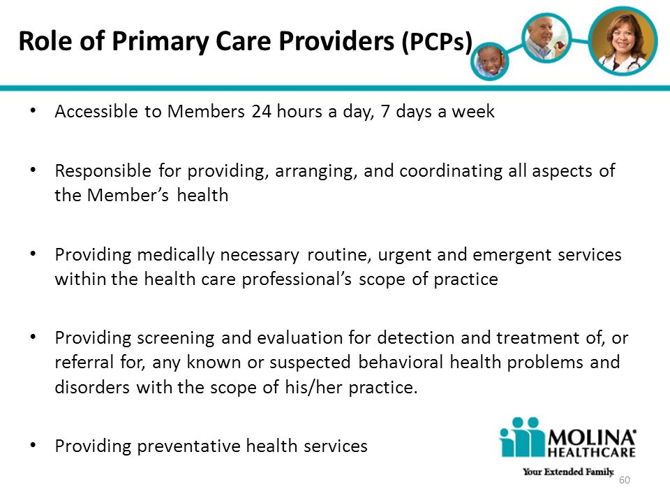 Role of Primary Care Providers (PCPs)