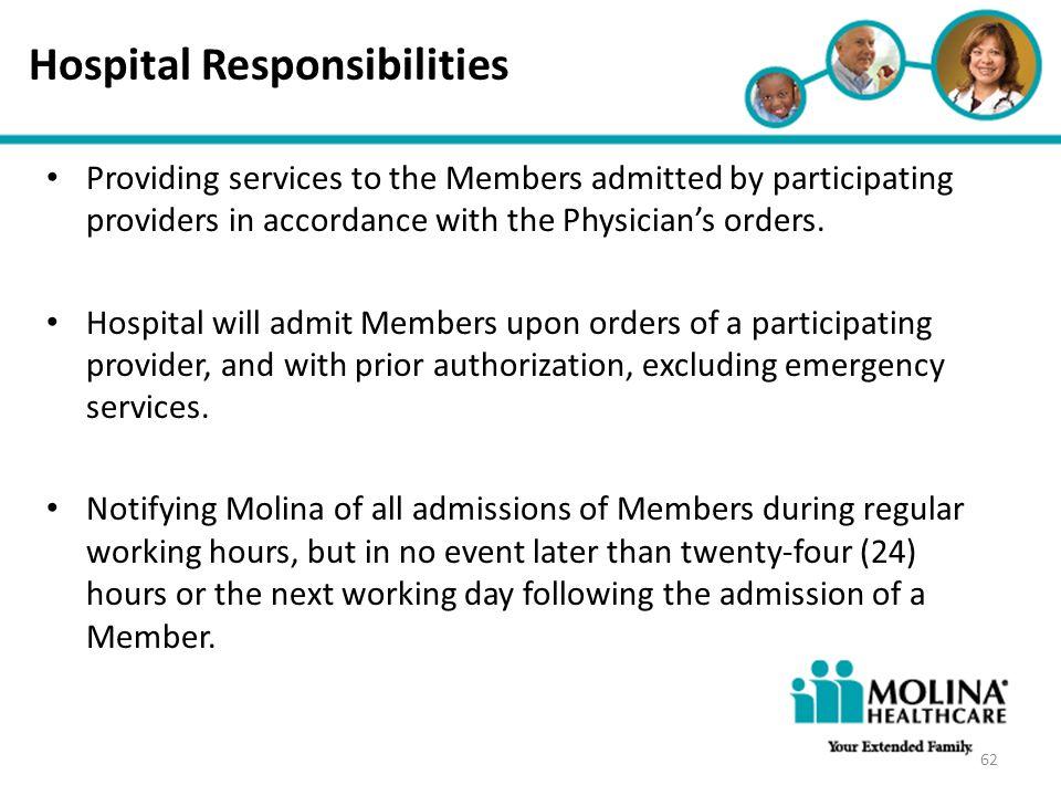 Hospital Responsibilities