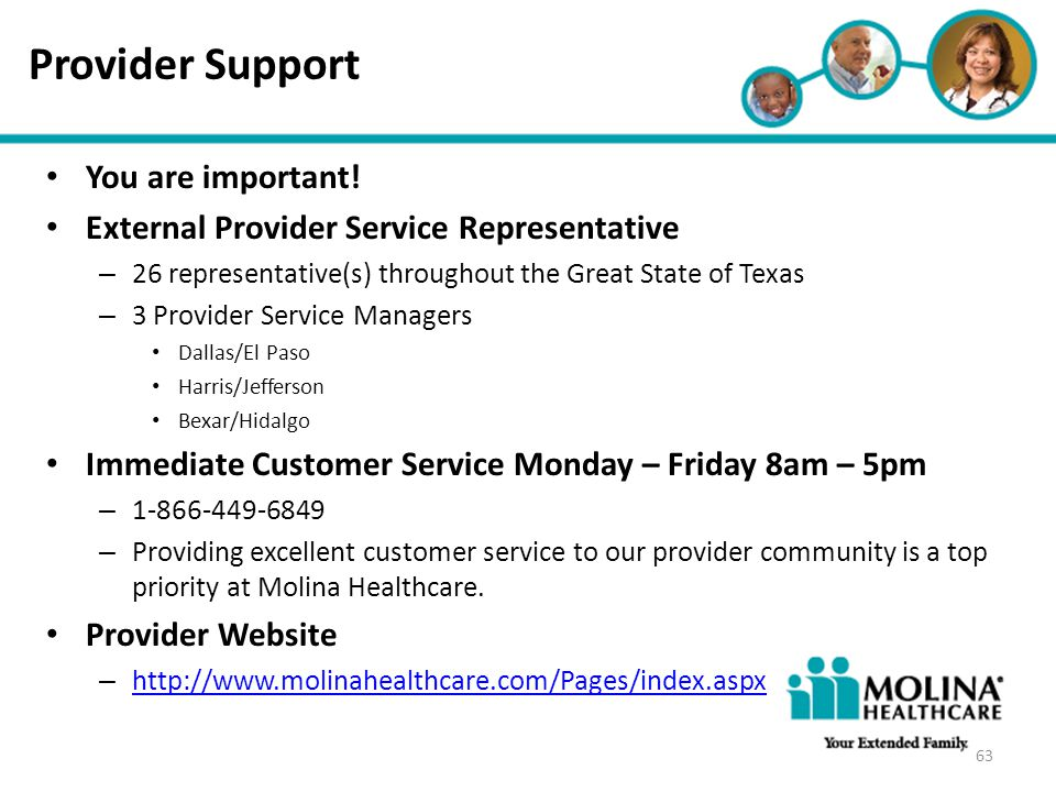 Provider Support You are important!