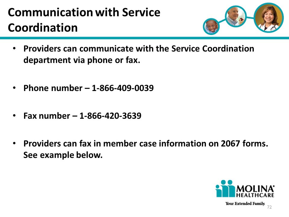 Communication with Service Coordination