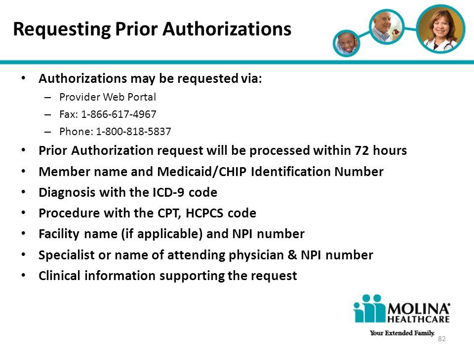 Requesting Prior Authorizations