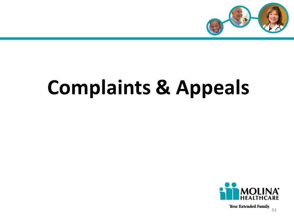 Headline Goes Here • Item 1 • Item 2 • Item 3 Complaints & Appeals