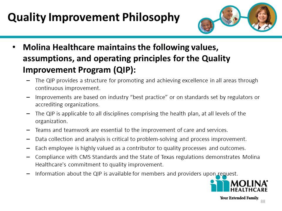 Quality Improvement Philosophy