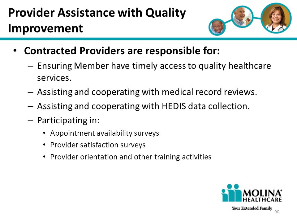 Provider Assistance with Quality Improvement