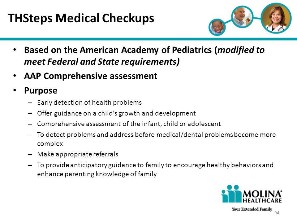 THSteps Medical Checkups
