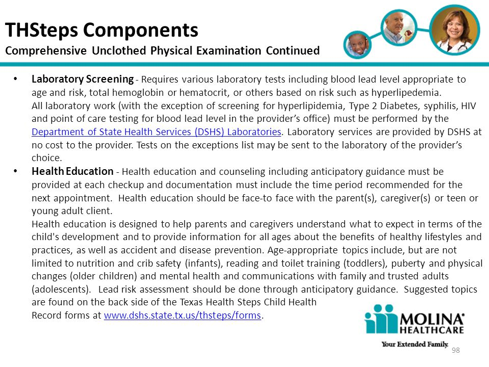 THSteps Components Comprehensive Unclothed Physical Examination Continued. Headline Goes Here.