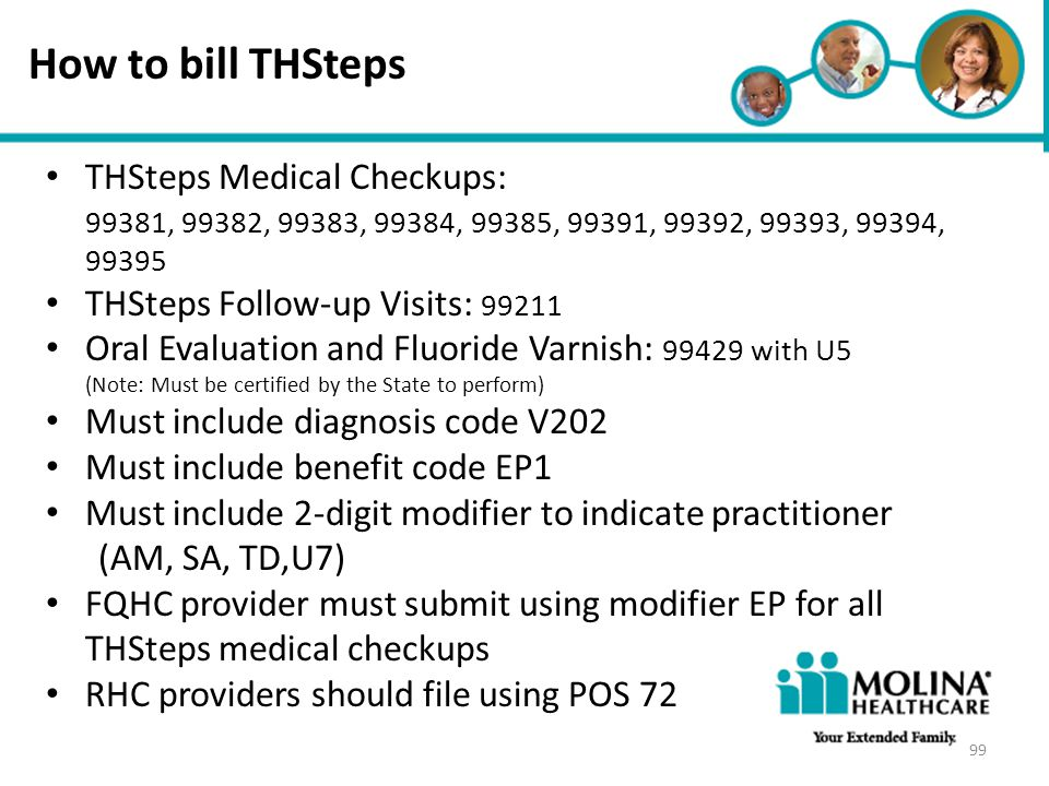 How to bill THSteps THSteps Medical Checkups: