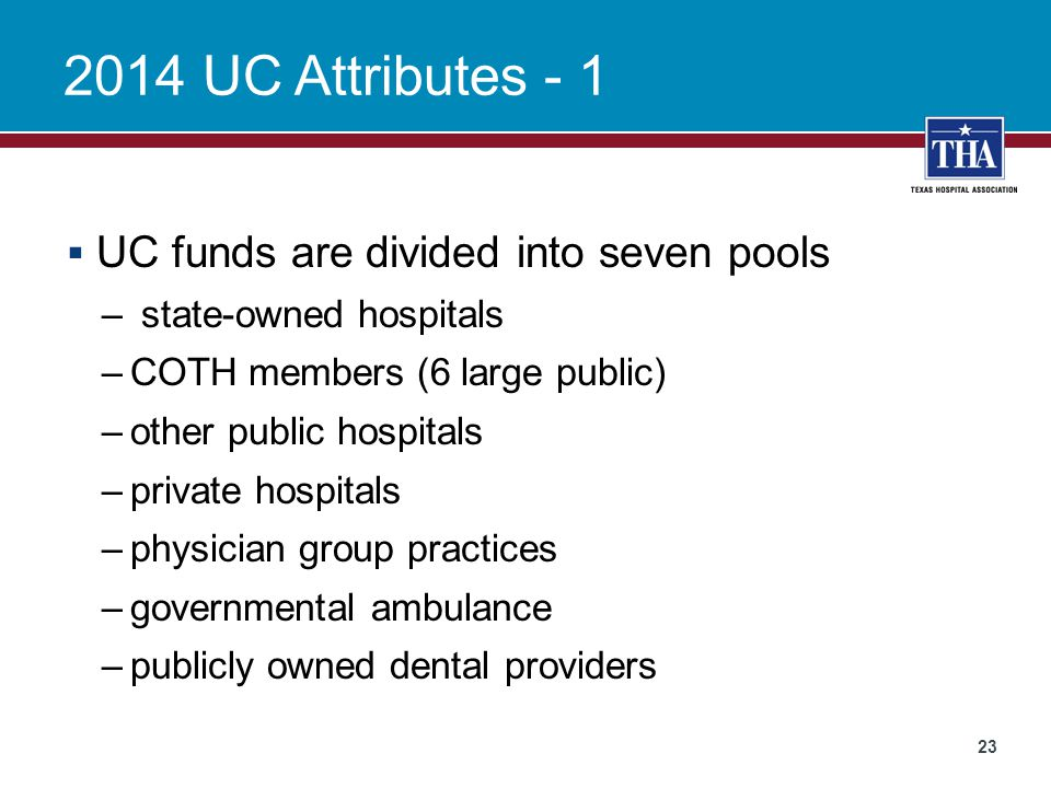 2014 UC Attributes - 1 UC funds are divided into seven pools