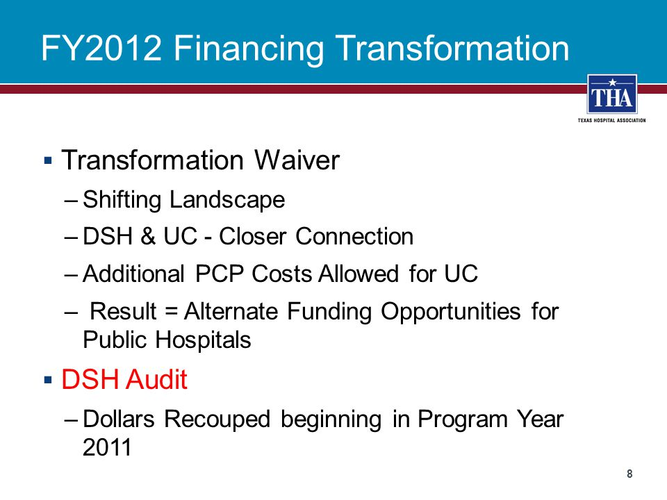 FY2012 Financing Transformation