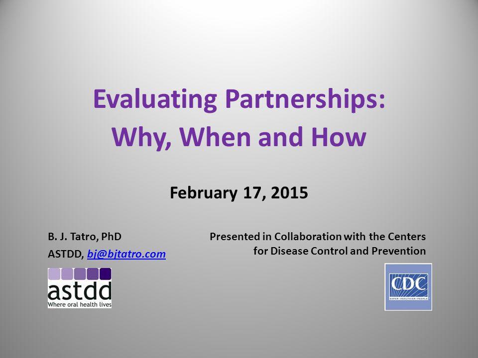 Evaluating Partnerships: