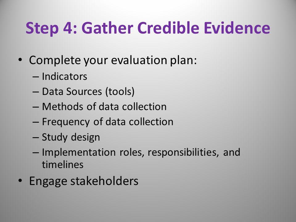 Step 4: Gather Credible Evidence