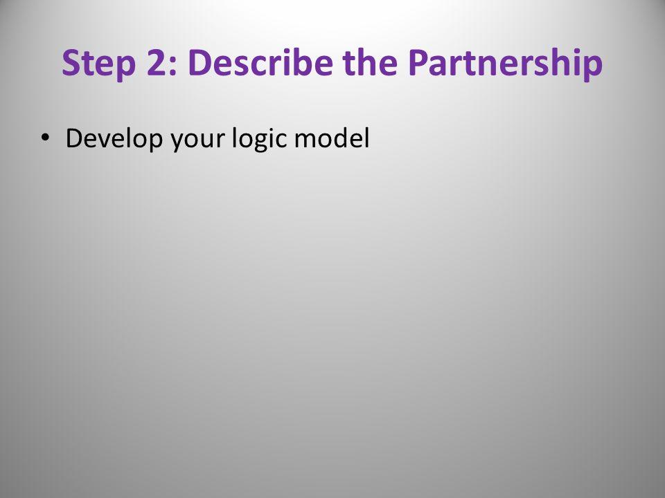 Step 2: Describe the Partnership