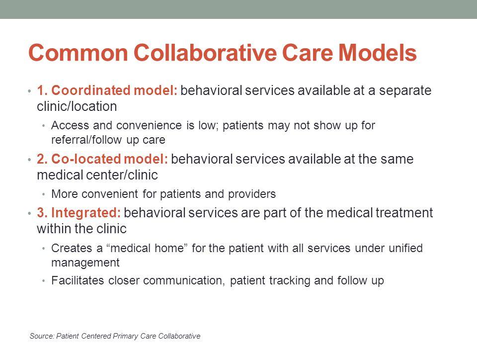 Common Collaborative Care Models