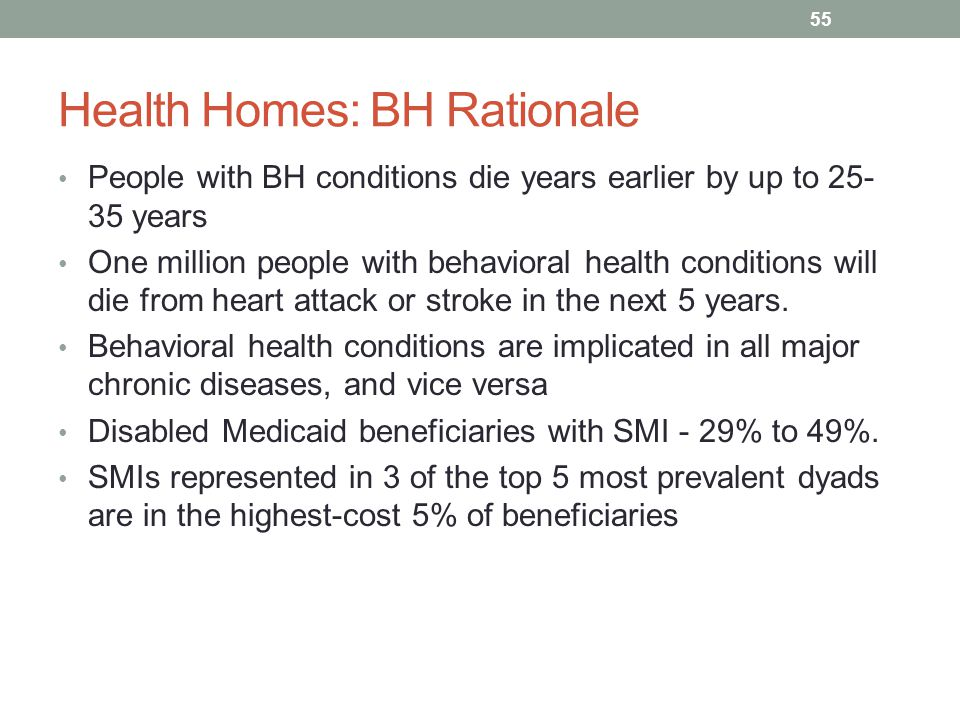Health Homes: BH Rationale