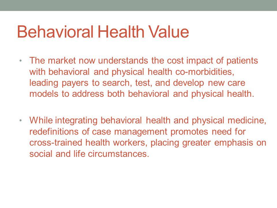 Behavioral Health Value