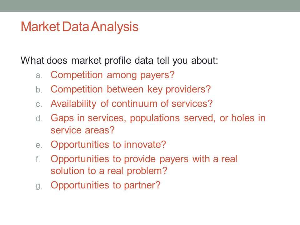 Market Data Analysis What does market profile data tell you about: