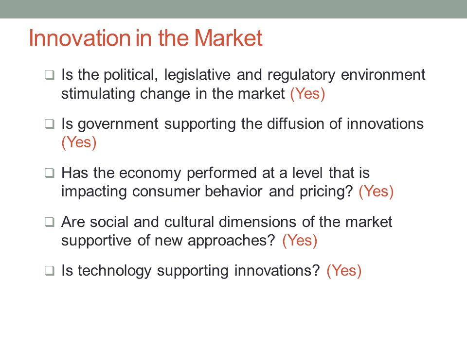 Innovation in the Market
