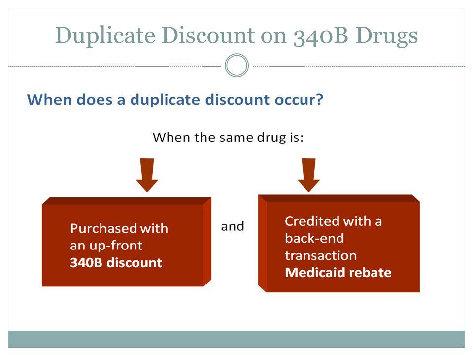 Duplicate Discount on 340B Drugs