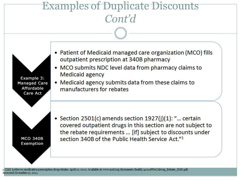 Examples of Duplicate Discounts Cont'd