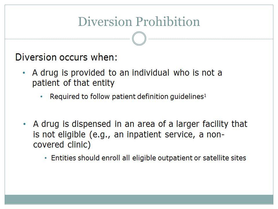 Diversion Prohibition