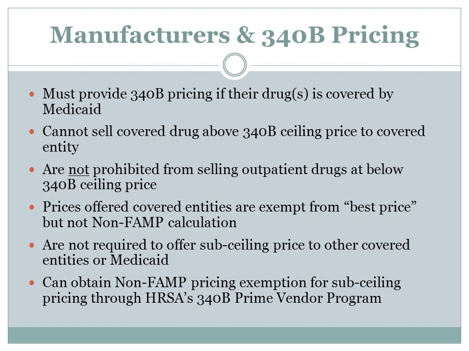 Manufacturers & 340B Pricing