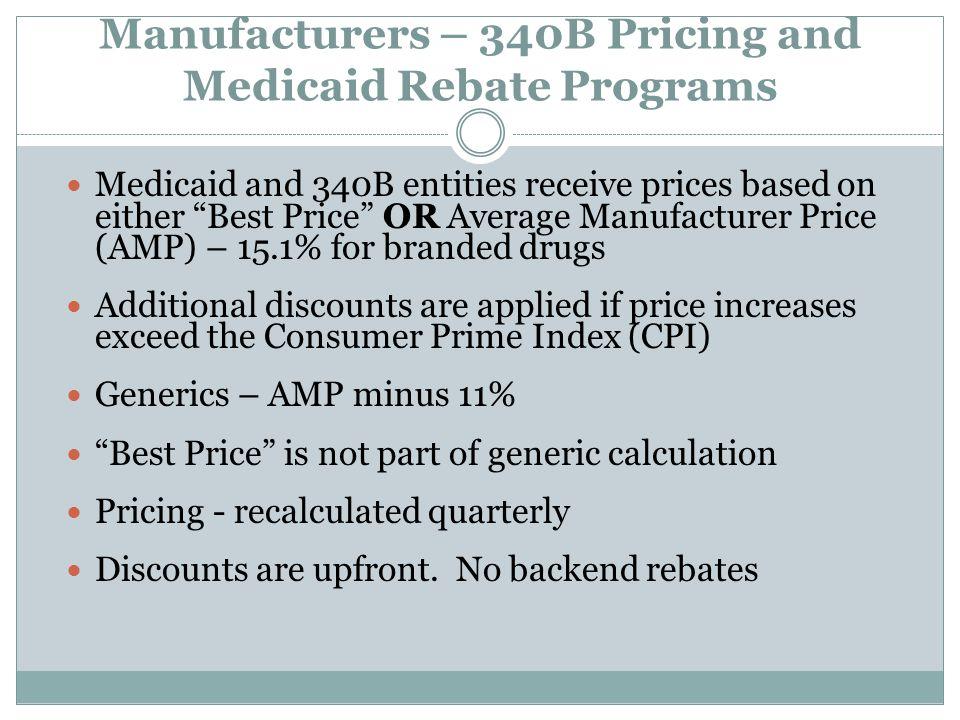 Manufacturers – 340B Pricing and Medicaid Rebate Programs