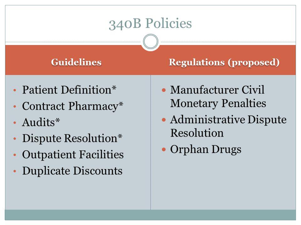 Regulations (proposed)