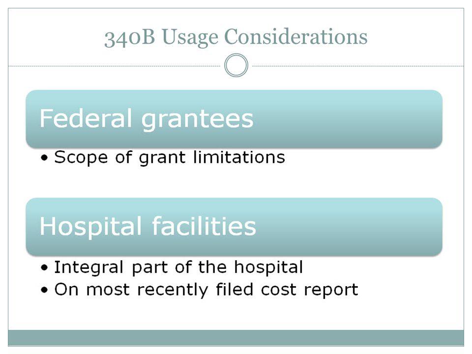 340B Usage Considerations