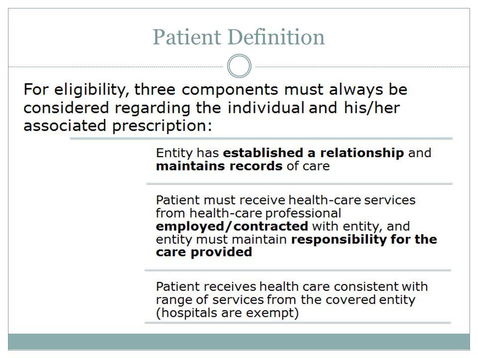 Patient Definition