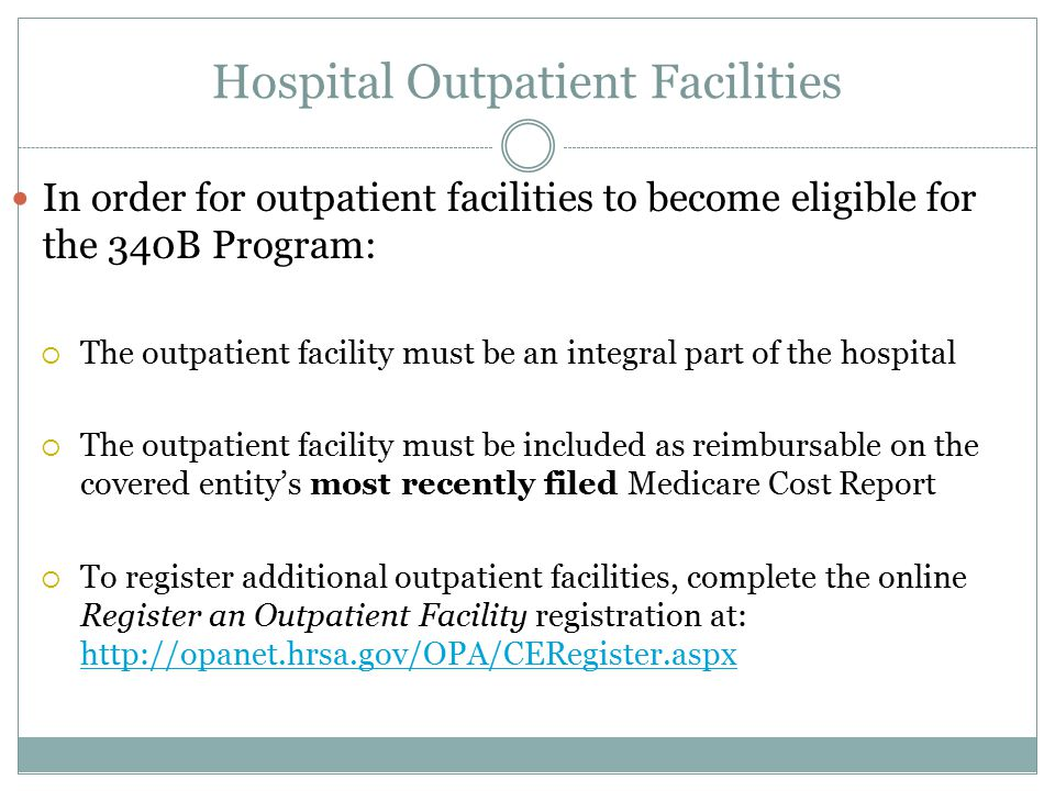 Hospital Outpatient Facilities
