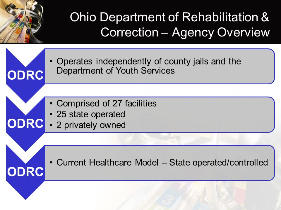 Ohio Department of Rehabilitation & Correction – Agency Overview