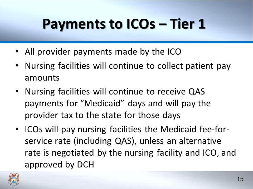 Payments to ICOs – Tier 1 All provider payments made by the ICO