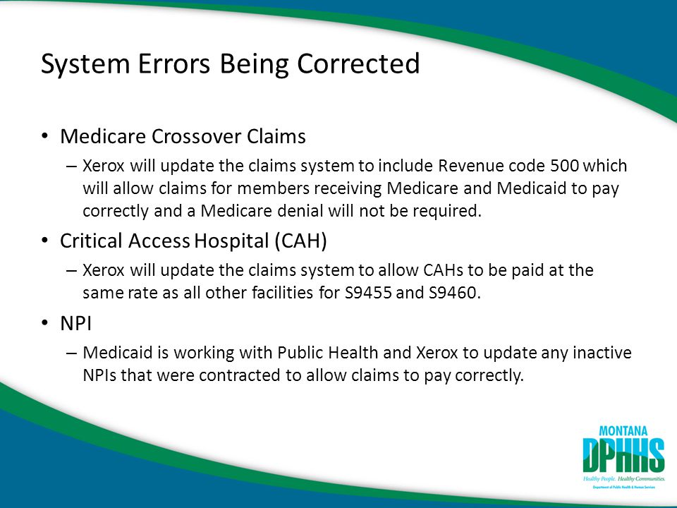 System Errors Being Corrected