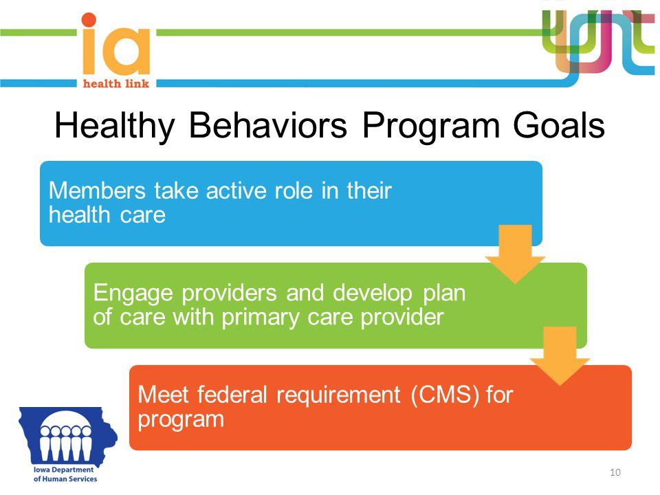 Healthy Behaviors Program Goals