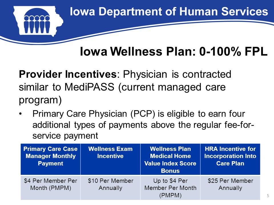 Iowa Wellness Plan: 0-100% FPL